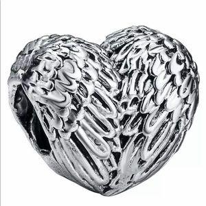 NEW•Silver Angel Wings DIY charm/bead